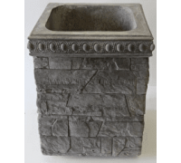 Бетонная декоративная цветочница для улицы древний пласт Д-055. 50 литров