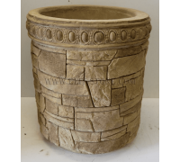 Бетонная декоративная цветочница напольная древний пласт Д-057. 40 литров